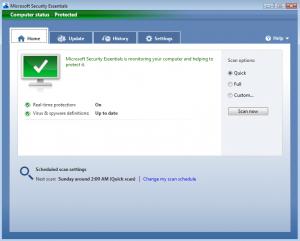MicrosoftSecurityEssentialsHome