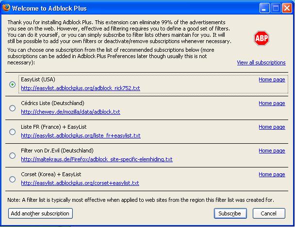Adblock Plus 1.3.9